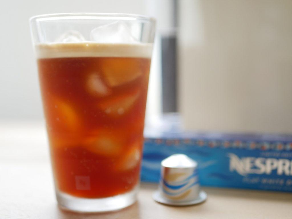 透き通ってキレイなアイスコーヒー「ネスプレッソブロングブラックオーバーアイス」